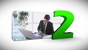 Aftelprocedure van bedrijfsmensen stock videobeelden