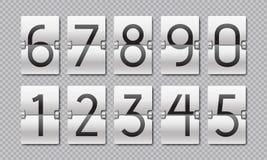 Aftelprocedureaantallen De teller van de tikklok, tijdelementen voor digitaal scorebord en analoge tijdopnemer Het vectoraftelpro royalty-vrije illustratie