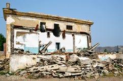 Aftereffect do terremoto Fotografia de Stock Royalty Free