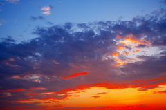 Afterglow. A lot of afterglow at sunset royalty free stock photo