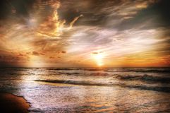 Afterglow, Away, Beach Royalty Free Stock Photo