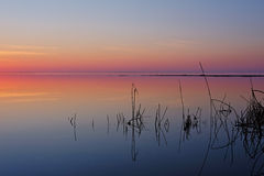 Afterglow. In Estonia. Haapsalu city royalty free stock photos