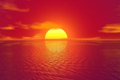Afterglow, Horizon, Sky, Sunrise royalty free stock photo