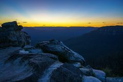 Afterglow at lincolns rock, blue mountains, australia 4. Afterglow at lincolns rock, blue mountains national park, australia royalty free stock photos
