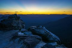 Afterglow at lincolns rock, blue mountains, australia 6. Afterglow at lincolns rock, blue mountains national park, australia royalty free stock photo