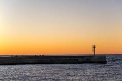 Afterglow nad morzem bałtyckim Obraz Stock
