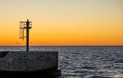 Afterglow nad morzem bałtyckim Zdjęcia Stock