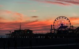 Afterglow in Santa Monica Royalty Free Stock Images