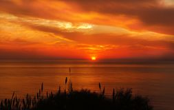 Afterglow, Sky, Sunset, Red Sky At Morning Royalty Free Stock Images