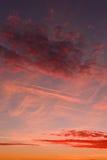 Afterglow wieczór zmierzch Fotografia Stock