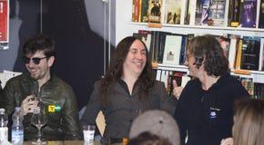 Afterhours摇滚乐队领导agnelli微笑 库存图片