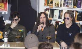 Afterhours摇滚乐队领导agnelli谈话 免版税库存照片