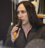 Afterhours zespół rockowy interviwed fan Zdjęcie Stock