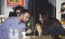 Afterhours zespołu rockowego lidera agnelli długie włosy Fotografia Stock