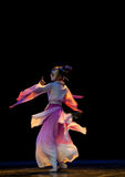 Afterimage:Mask dance--Chinese folk dance Stock Image