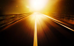 Afterlife. Road leads into the bright light Stock Photography