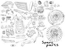 Aftermarket spare parts vector illustration