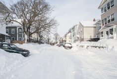 The aftermath and cleanup of the blizzard of 2013 Royalty Free Stock Image