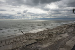 Aftermath hurricane Sandy. NEW YORK - November 1: Aftermath hurricane Sandy : panoramic view in Far Rockaway area   October 29, 2012 in New York City, NY Stock Image