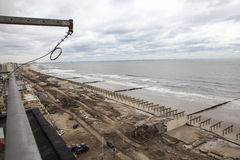 Aftermath hurricane Sandy. Panoramic view in Far Rockaway area   October 29, 2012 in New York City, NY Royalty Free Stock Photos