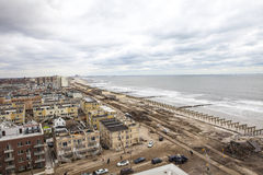 Aftermath hurricane Sandy. Panoramic view in Far Rockaway area   October 29, 2012 in New York City, NY Stock Images