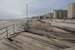 Aftermath hurricane Sandy. Panoramic view in Far Rockaway area   October 29, 2012 in New York City, NY Stock Photos