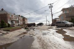Aftermath hurricane Sandy Royalty Free Stock Image