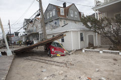 Aftermath hurricane Sandy Royalty Free Stock Images