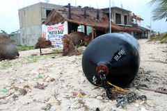 Aftermath in Mahahual after Hurricane Ernesto Royalty Free Stock Photography