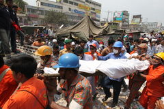 Aftermath Rana plaza in Bangladesh (File photo) Royalty Free Stock Photos