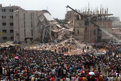Aftermath Rana plaza in Bangladesh (File photo) Royalty Free Stock Photo
