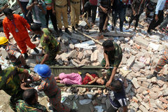Aftermath Rana plaza in Bangladesh (File photo) Royalty Free Stock Image