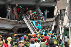 Aftermath Rana plaza in Bangladesh (File photo) Stock Image