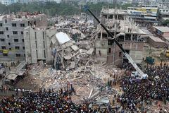 Aftermath Rana plaza in Bangladesh (File photo) Stock Photography