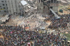 Aftermath Rana plaza in Bangladesh (File photo) Stock Photo