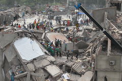 Aftermath Rana plaza in Bangladesh (File photo) Royalty Free Stock Photography