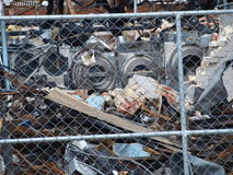 Aftermath of Six Alarm Dallas Fire. Dallas,USA,15 July 2017. The aftermath of the massive 6 alarm fire on 8th July can be seen here, Saturday, 15th July royalty free stock images