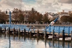 Aftermath of the Superstorm Sandy in Brooklyn, NY Stock Image