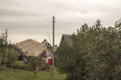 Aftermath tornado Belarus Stock Photography