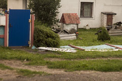 Aftermath tornado Belarus Stock Photos