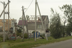 Aftermath tornado Belarus Stock Photos