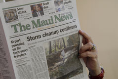 Aftermath weekend storn on Maui Islanad Hawaii usa Royalty Free Stock Photo