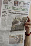 Aftermath weekend storn on Maui Islanad Hawaii usa Stock Images