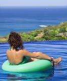 Afternnoon en la piscina Foto de archivo