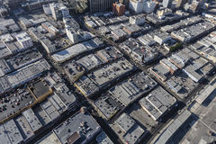 Afternoon aerial of downtown Los Angeles Rooftops Royalty Free Stock Photos