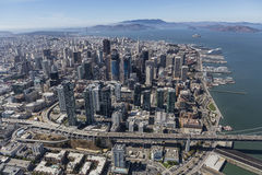 Afternoon Aerial of San Francisco City and Bay Stock Photography