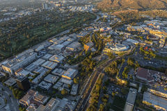 Afternoon Aerial Universal City Los Angeles Stock Photo