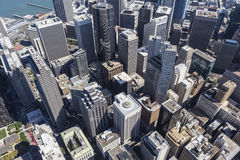 Afternoon Aerial View of San Francisco Central Business District Stock Photography
