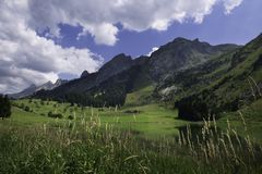 Afternoon in the Aravis Mountains stock photos