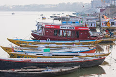 Afternoon on the banks of the Ganges Stock Images